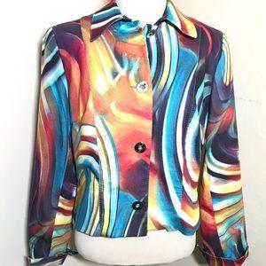 Alberto Makali Multicolor Blazer size 8